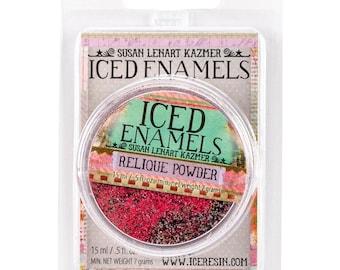 Iced Enamels relique powder, Garnet, .25oz