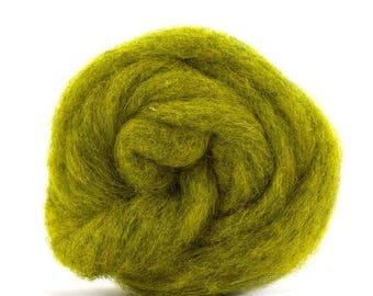 Corriedale Bulky Wool Roving - Sunflower - 4 ounces