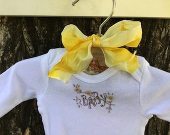 Hand Embroidered Baby Onesie