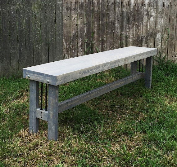 Industrial Bench Modern Rustic Bench Industrial Furniture