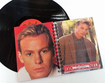 Jason Donovan, Up-cycled Vinyl Album cover Notebook