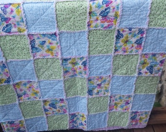 twin flannel rag quilt