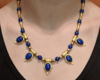 Lapis Egyptian Style Necklace - Victorian - Ancient Egypt