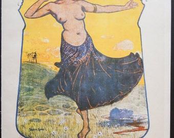 Art Nouveau Poster of the Eleven Hangmen -- Seraphion Grab (Willy Oertel) -- Vintage Serigraph Print