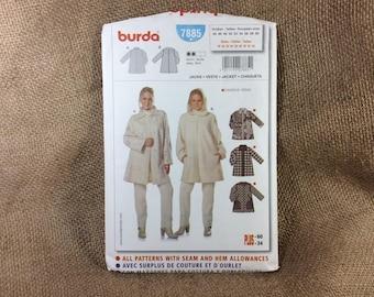 Uncut Burda pattern, Burda 7885, 2.50 US shipping, loose fitting coat, pattern by Verlag Aenne Burda, super jacket by Burda, sewing pattern