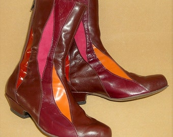 Autumn Inlay Boot, made to order in your size