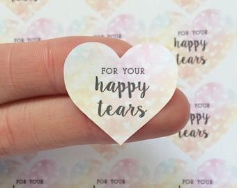 Wedding For Your Happy Tears Throw Me Confetti Stickers Wedding Favor Rainbow Heart Happy Tears Stickers Labels Wedding Tissue Labels