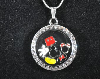Disney Mickey & Minnie Mouse Floating Charm Locket, fish extender gift, stocking stuffer, party favor, living locket