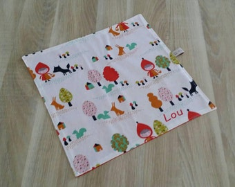 Napkin kids personalized name Red Riding Hood.