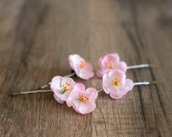 Kirschblüte-Haar-Clips Kirschblüte-Hochzeit rosa Braut