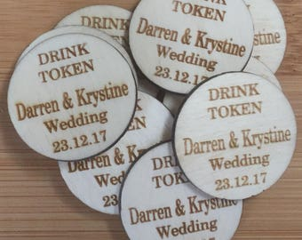Wedding Favour Drink Token Party Favour