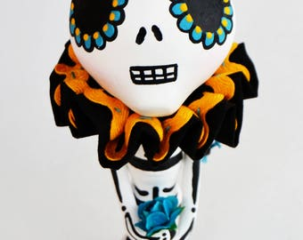 Day of the Dead - Skelly Mixed Media - Dia de los Muertos - Skelly Figurine