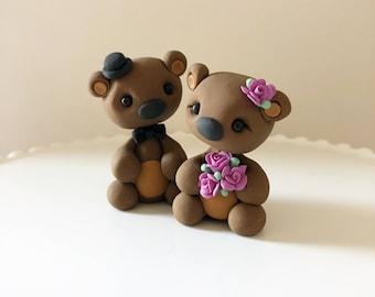 Handmade Bear Wedding Cake Topper