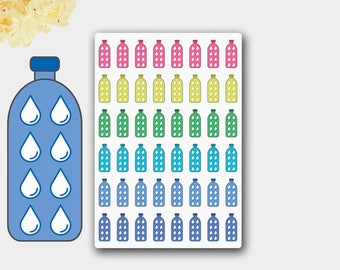 Bottle Stickers, Bottle Planner Stickers, Water Bottle Stickers, Fitness Bottle Stickers,Planner Stickers Erin Condren