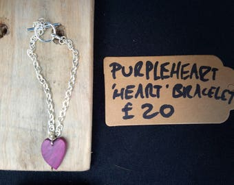 Purpleheart Heart Bracelet