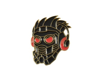 """Star-Lord 1.5"""" black and gold soft enamel pin - Marvel Avengers Infinity War"""