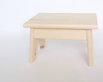 Unfinished Pine Step Stool / Foot Stool / Kid Stool / Wood Stool / Step Stool / Toddler Stool