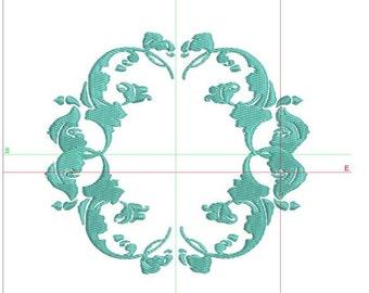 Boarder embroidery design