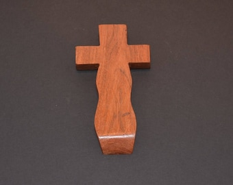 Unique Wood Cross; Christian; Cross Wall Decor; Wall Cross; Mesquite; Wedding Gift; Sympathy Gift; Free Ground Shipping USA; cc15-3062017