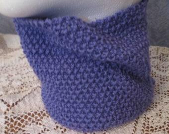 Texture du cou en laine mérinos/Cachemire violet