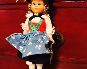 """Vintage Wilten Made in Austria-Innsbruck Souvenir Doll 7 1/2"""""""