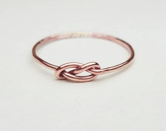 Infinity Ring Rose Gold Filled Stacking Ring Infinity Knot Ring