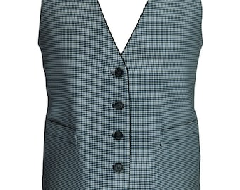 44 Long Reversable Houndstooth Vest -- Excellent Condition