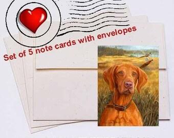 A Good Season, Vizsla Note Card Set