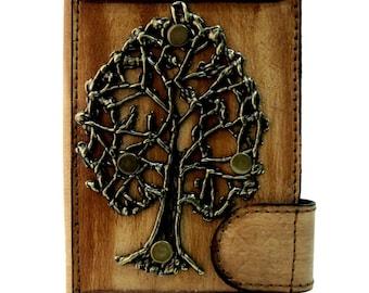 Iphone 6 housse etui en cuir avec embleme d'arbre