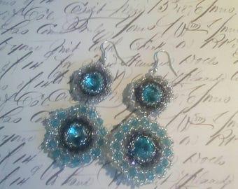Earrings Swarovski Elements pendants