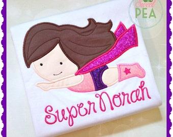 Personalized superhero shirt - superhero birthday - Girls superhero shirt -  Supergirl shirt - Supergirl Birthday - Girl Superhero