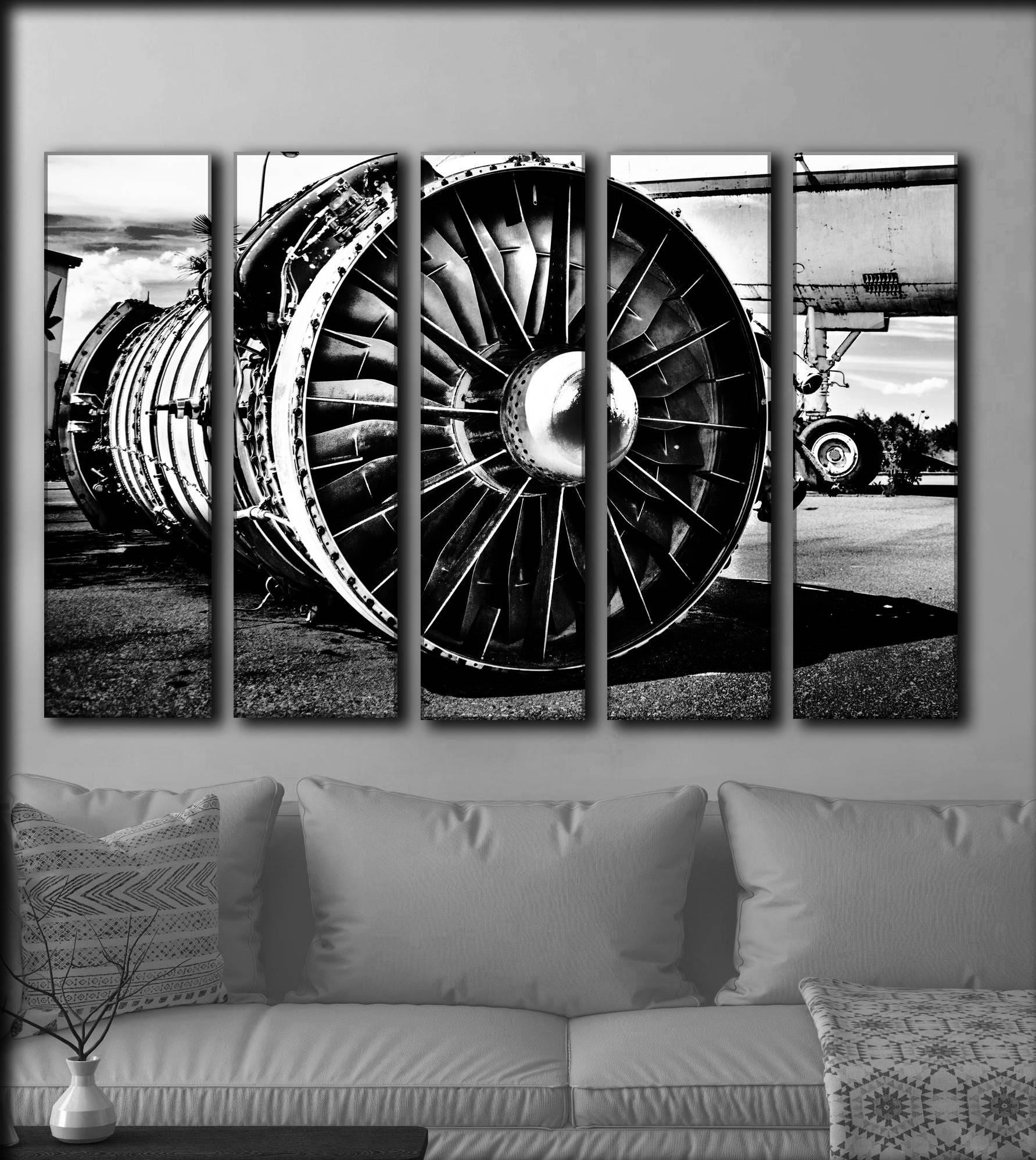 GROßE Flugzeuge Leinwand Wand Kunst Vintage Flugzeug Leinwand