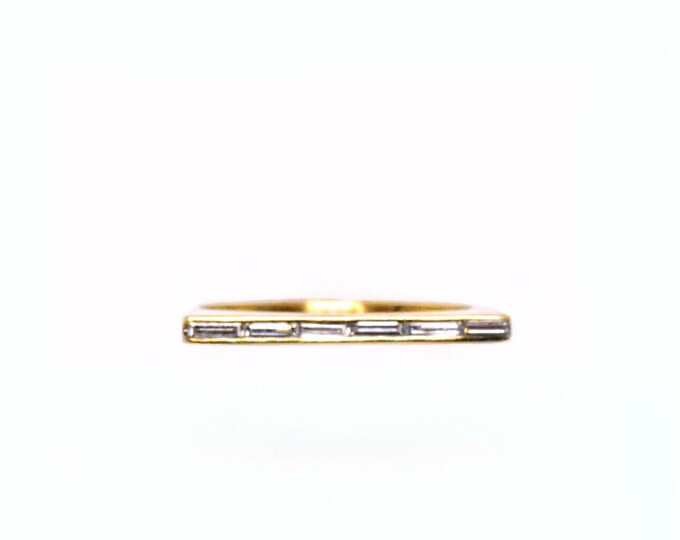 Diamond Linear Ring