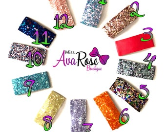 Glitter Snap clips 5 for 10 with free shipping