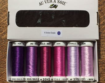 Purple oval silk discovery Pack