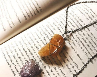 Citrine and Amethyst Necklace