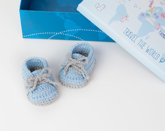 CROCHET PATTERN - Crochet Baby Booties - Baby Slippers - Baby Shoes - PDF