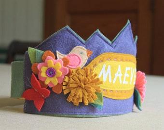 Woodland Princess Birthday Crown