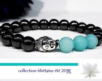 hematite, yoga, mala, spiritual Buddha bracelet, meditation,