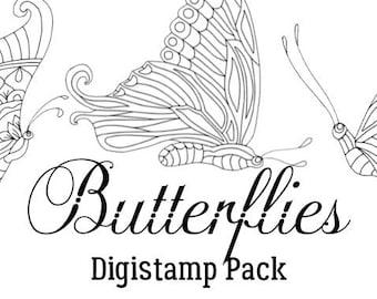 Butterflies Digistamp Pack