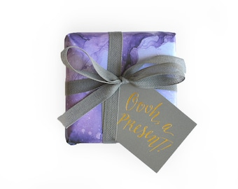 Deep Purple Gift Wrap - 3 Single Sheets
