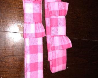 AJ belt Pink plaid