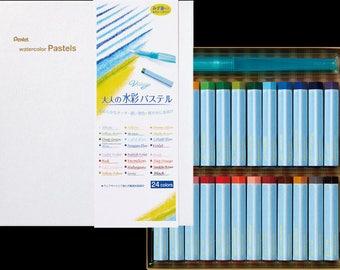 Pentel Watercolor Pastel / watercolor pen / 24 Colors / Brush Pen