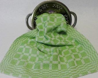 Handwoven Cotton/Linen Towel for Kitchen & Bath -  Mint Green Towel - Handtowel, Kitchen Towel, Handwoven Towel, Tea Towel, Breadcloth 16-16