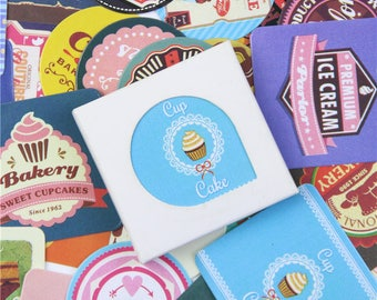 """Lot 38 Stickers Paper """"sweet moments"""" (4x4cm)"""