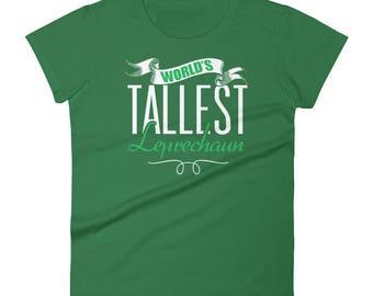 St.Patrick's Day Worlds tallest leprechaun Women's short sleeve t-shirt