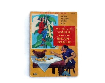 Jack and the Beanstalk, See and Say, 1963, Vintage Children's Book