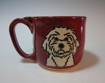 Dog Mug Westie West Highland Puppy Mug Red  - Holds 12 ounces - In Stock