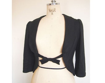 Swallow tail jacket bolero