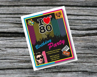 80's Party invitation